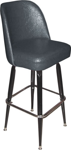 Bennington Furniture Corp Black Bucket Seat Bar Stool With Heavy
