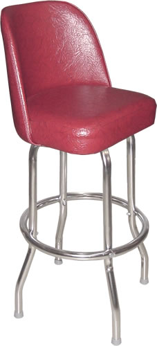 Bennington Furniture Corp Cranberry Red Bucket Seat Bar